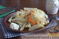 Запеченная редька с картофелем и морковью