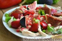 Салат со свежим инжиром и гранатом