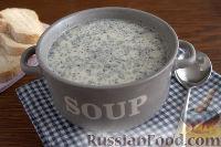Крем-суп с кольраби и плавленым сырком