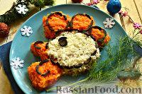 Салат «Петушок - Золотой Гребешок» с копченой колбасой