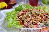 Горячий салат-гарнир с грибами