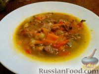 Суп-похлебка с языком и овощами