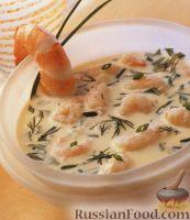 Летний суп-пюре с креветками
