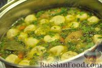 Картофельный суп с грибными ушками