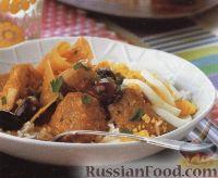 Картофельное рагу с курятиной и свининой
