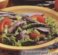 Овощной салат с говяжьими стейками