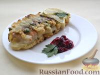 Рыба, жаренная со стручковой фасолью и луком