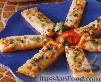 Закусочная пицца на слоеном тесте