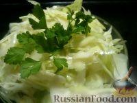 Салат из свежей капусты с чесноком