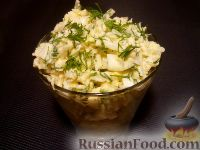 Салат из редьки с яйцами