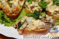 Горячие бутерброды с курицей и сыром