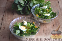 Салат с ананасами и шпинатом