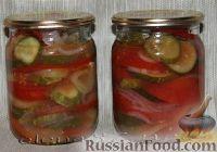 Салат из овощей в собственном соке на зиму