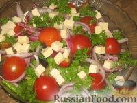 Салат с баклажанами и брынзой