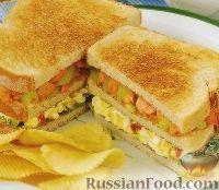 Тройной клубный сэндвич с лососем