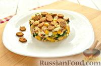 Салат с консервированной горбушей и свежим огурцом