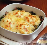 Яйца по-флорентийски, со шпинатом