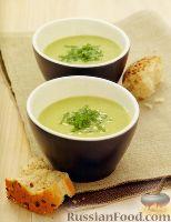 Суп-пюре с зеленым горошком и фасолью