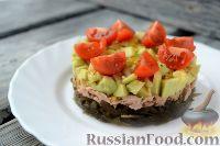 Салат из морской капусты, с тунцом и авокадо
