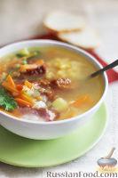 Гороховый суп на копченых ребрышках