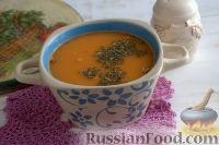 Томатный суп-пюре из фасоли, с вермишелью