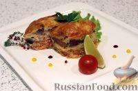 Горбуша, запеченная с  грибами и сыром