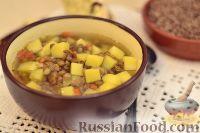 Суп из чечевицы с картофелем