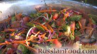 Разноцветный салат из свежих овощей