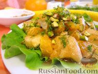 Салат «Солнечный» с курицей и цитрусами