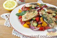Салат с белой рыбой