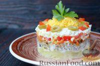 Салат со шпротами и картошкой
