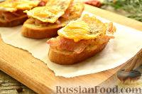 Тосты с беконом и перепелиными яйцами