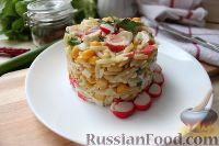 Крабовый салат с пастой орцо