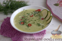 Суп-пюре из цуккини, картофеля и укропа