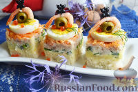 Канапе с салатом «Мимоза»