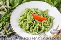 Домашняя лапша со шпинатом