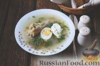 Суп из ревеня и шпината