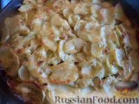 Запеканка из картофеля и шампиньонов, со сливками