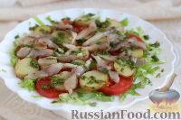 Салат с молодым картофелем и селедкой