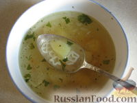 Суп куриный с засыпкой