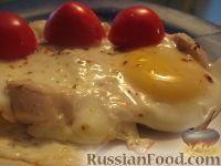 Яичница с куриным филе