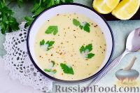 Авголемоно (греческий куриный суп)