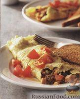 Омлет с мясным фаршем и овощами