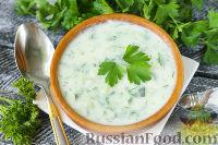 Картофельный суп-пюре с огурцами