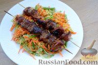 Свинина в соусе терияки, с овощным салатом