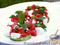 Салат с жареными кабачками и перцем