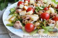 Салат с фасолью, тунцом и черри