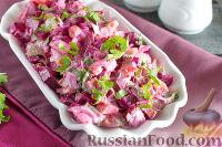 Острый салат из вареной свеклы