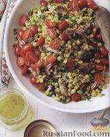 Салат со свининой и кукурузой