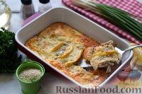 Окунь, запеченный в сырном соусе